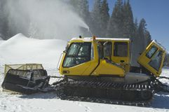Snow groomers in Colorado Stock Images
