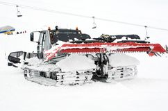 Snow grooming equipment Royalty Free Stock Images