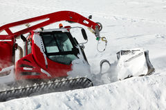 Snow-grooming machine Royalty Free Stock Images