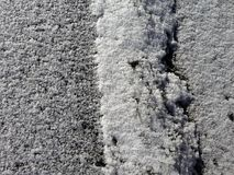 Snow on the ground. Powder snow on the ground texture Stock Images