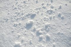 Snow on the ground stock photography