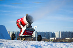 Snow gun in action Stock Photography