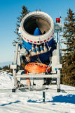 Snow gun frontal view Stock Image