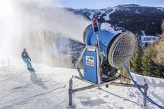 Snow gun Makes artifical snow Royalty Free Stock Images