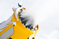 Snow gun in the mountains Royalty Free Stock Images
