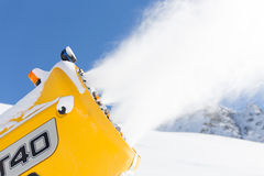 Snow gun in the mountains Stock Photography