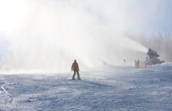 Snow gun. Ski resort Schladming . Austria Stock Images