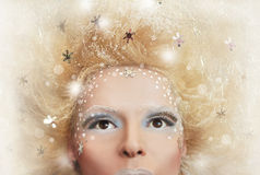 Snow hairstyle. Royalty Free Stock Photo