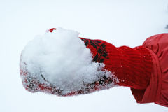 Snow in hand Royalty Free Stock Photos