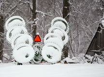 Snow hayrake Stock Images