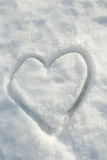 Snow heart Royalty Free Stock Image