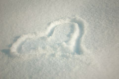 Snow heart Royalty Free Stock Images
