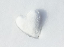 Snow Heart. Royalty Free Stock Image