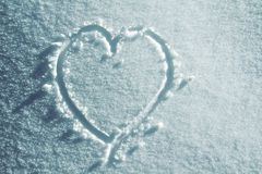 Snow heart Stock Photography