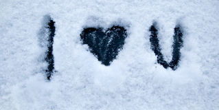 Snow heart Stock Photos