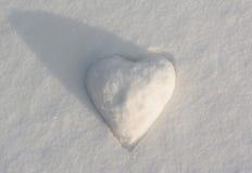 Snow heart shape Royalty Free Stock Image