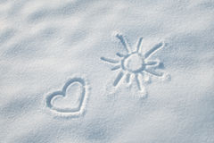 Snow heart shape Royalty Free Stock Images