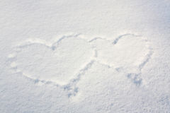 Snow hearts Stock Image