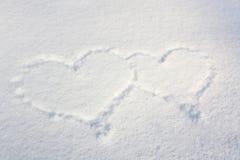 Snow hearts Stock Image