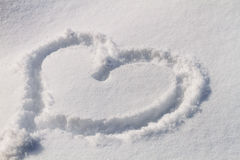 Snow Hearts Stock Photo