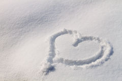 Snow Hearts Stock Photos