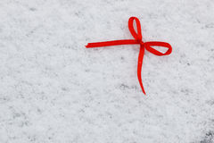 Snow hearts red winter two Stock Image