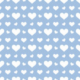 Snow Hearts Seamless Background Love Royalty Free Stock Image