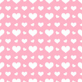 Snow hearts seamless background Stock Image
