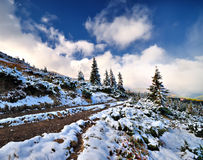Snow in the high mountains Royalty Free Stock Photo