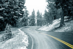 Snow on Highway Royalty Free Stock Photos