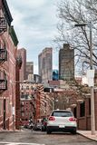 Snow Hill Street in North End neighborhood of Boston MA. Snow Hill Street in North End neighborhood of Boston, MA, the USA royalty free stock images