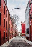 Snow Hill Street and North End neighborhood Boston. Snow Hill Street and North End neighborhood, Boston, MA, the USA stock photos