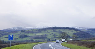 Snow on the Hill Tops. Stock Images