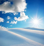 Snow hills Stock Photo