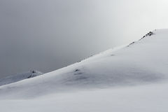 Snow hills background Royalty Free Stock Images