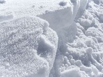 Snow and Hoar Frost Stock Images