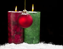 Snow Holiday Decorations Royalty Free Stock Photography