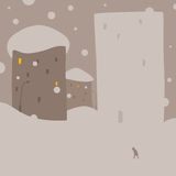 Snow house. Snow anomaly and new snow house Royalty Free Stock Photography