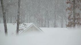 Snow and house Royalty Free Stock Photo