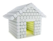 Snow house isolated Stock Photo