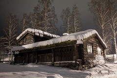 Snow house in the night.  Royalty Free Stock Photos
