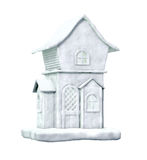 Snow house on the white background Stock Images
