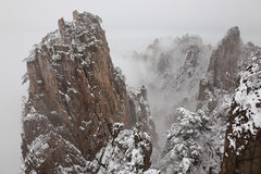 Snow, Huangshan or Yellow Mountains, Anhui Province, Royalty Free Stock Images