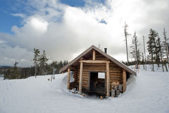 Snow hut Stock Images