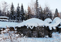 Snow hut of snow white princess Stock Photos
