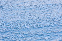 Snow ice crystal formation. On ice surface royalty free stock images