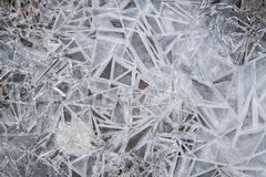 Snow and ice flake from frozen Stock Image