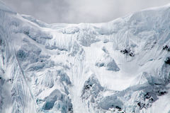 Snow and Ice Formations, Cordillera Huayhuash, Peru Royalty Free Stock Photos