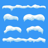 Snow ice icicle set Royalty Free Stock Image