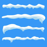 Snow ice icicle set Royalty Free Stock Photography